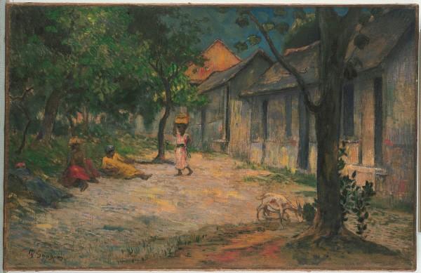 폴 고갱(Paul Gauguin) '마르티니크의 마을(Village in Martinique), 캔버스에 유채(Oil on canvas), 1887'. 사진=컬쳐앤아이리더스 제공