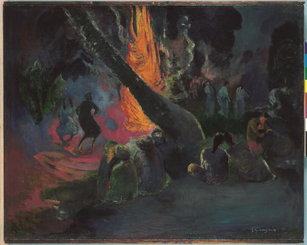 폴 고갱(Paul Gauguin) '우파 우파(불춤)(Upa Upa(The Fire Dance)), 캔버스에 유채(Oil on canvas), 1891'. 사진=컬쳐앤아이리더스 제공