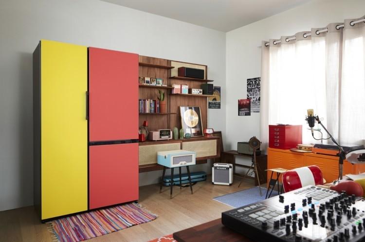 삼성전자 비스포크(BESPOKE) 냉장고(왼쪽) [사진=삼성전자]