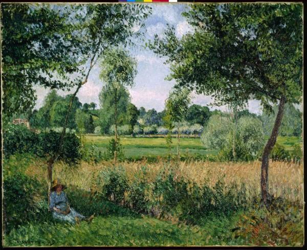 카미유 피사로(Camille Pissarro) '아침, 햇빛 풍경, 에라니(Morning, Sunlight Effect, Eragny), 캔버스에 유채(Oil on canvas), 1899'. 사진=컬쳐앤아이리더스 제공