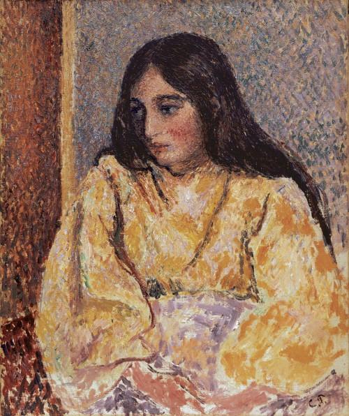 카미유 피사로(Camille Pissarro) '잔느의 초상화(Portrait of Jeanne), 캔버스에 유채(Oil on canvas), ca. 1893'. 사진=컬쳐앤아이리더스 제공