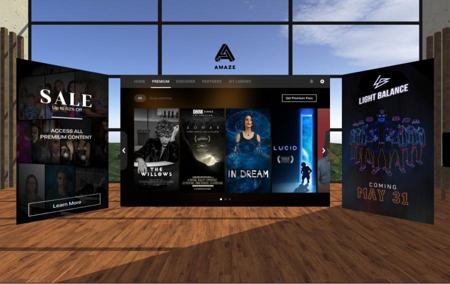 어메이즈 VR 앱 화면, 이미지제공=어메이즈VR