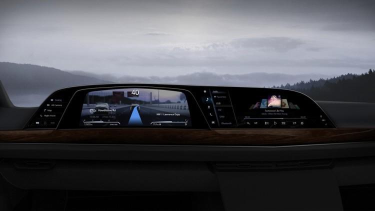 LG전자가 공급한 P-OLED 기반 디지털 콕핏을 차량에 적용한 이미지 예시 [사진=LG전자]
