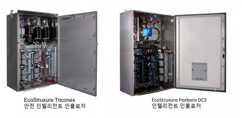 슈나이더 일렉트릭 에코스트럭처 트라이코넥스와 에코스트럭처 폭스보로 분산 제어 시스템의 인텔리전트 인클로저