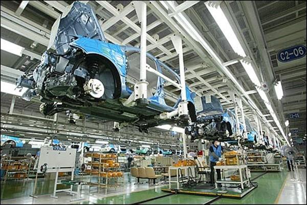 Hyundai Motor Company's factory in Ulsan