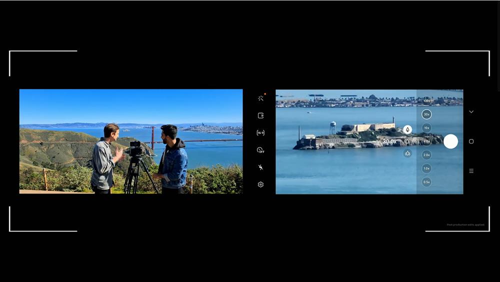 갤럭시 언팩 2020 현장에서 실시간으로 갤럭시 S20에서 30배 확대된 카메라 피사체를 보여주고 있다. 잡힌 장면에서는 화질 저하가 없는 모습이다. [사진=삼성전자]