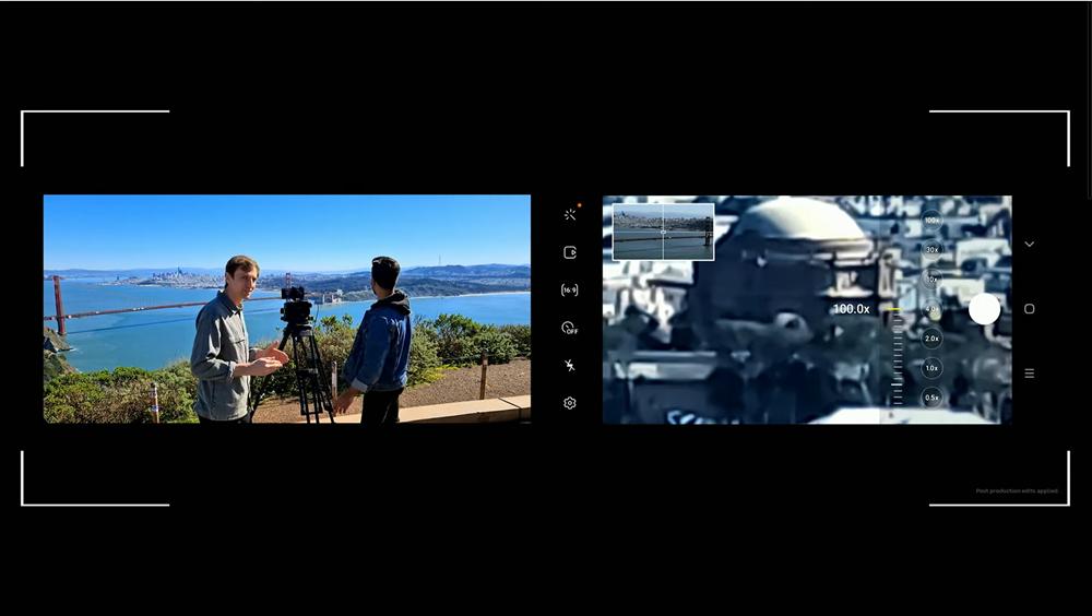 갤럭시 언팩 2020 현장에서 실시간으로 갤럭시 S20 울트라에서 100배 확대된 카메라 피사체를 보여주고 있다. 멀리 떨어진 피사체지만 놀라울 정도로 또렷하다. [사진=삼성전자]