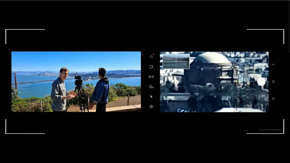 갤럭시 언팩 2020 현장에서 실시간으로 갤럭시 S20 울트라에서 100배 확대된 카메라 피사체를 보여주고 있다. 멀리 떨어진 피사체지만 놀라울 정도로 또렷하다. [사진=삼성전자] [사진=삼성전자]