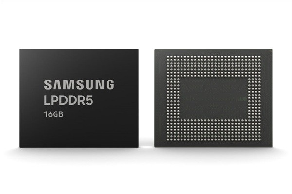 The industry's first 16GB LPDDR5 DRAM (Reference: Samsung Electronics)