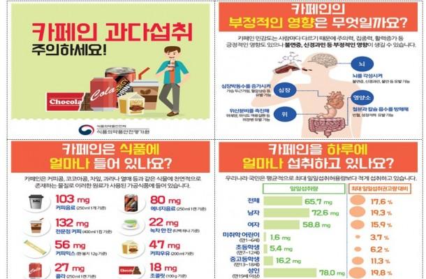 """""""성인 하루 커피 4잔, 청소년 에너지음료 2캔 이내로 섭취하세요"""""""