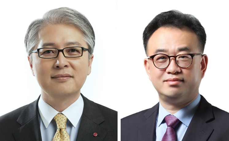 CEO 권봉석 사장(왼쪽), CFO 배두용 부사장 [사진=LG전자]