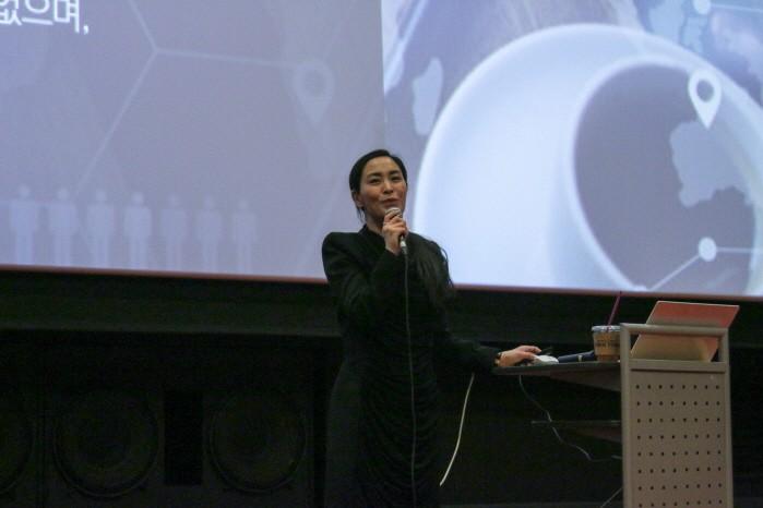 """[포토] 김은영 더 아이디어 대표, """"전자신문ENT 프로젝트, 스펙-경험 위한 체계적 진행될 것"""""""