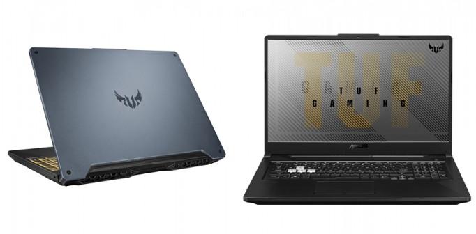 AMD 라이젠 9 CPU를 탑재한 에이수스 신제품 'TUF FA506'(왼쪽)과 'FA706' [사진=에이수스코리아]