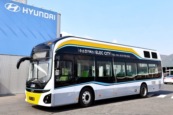 Hyundai Motor Company's fuel cell electric bus supplied to Changwon