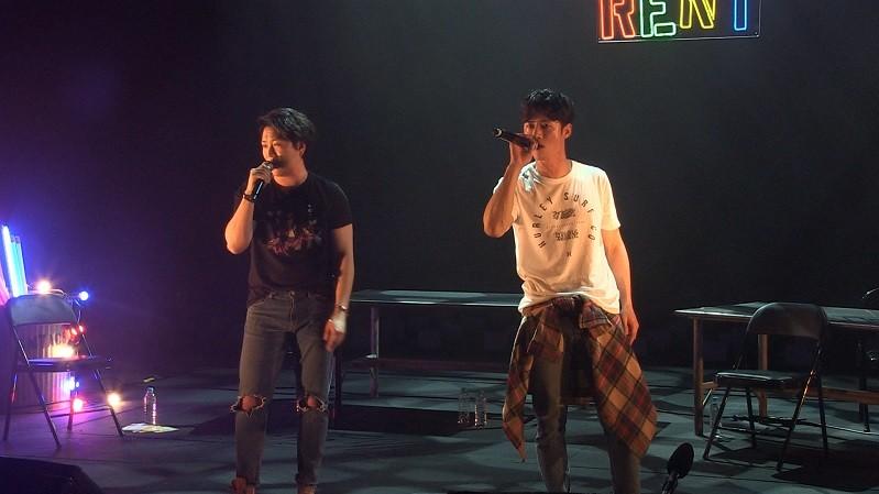 '뮤지컬 렌트' 라이브 방송현장 / 사진 : 인터파크 제공