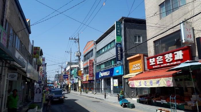 충북 보은군이 전선지중화 사업을 할 보은읍 시가지(제공:News1)
