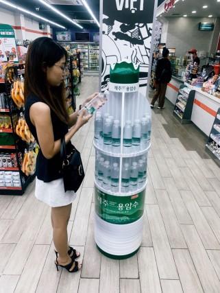 오리온 제주용암수 베트남 현지 판매 이미지