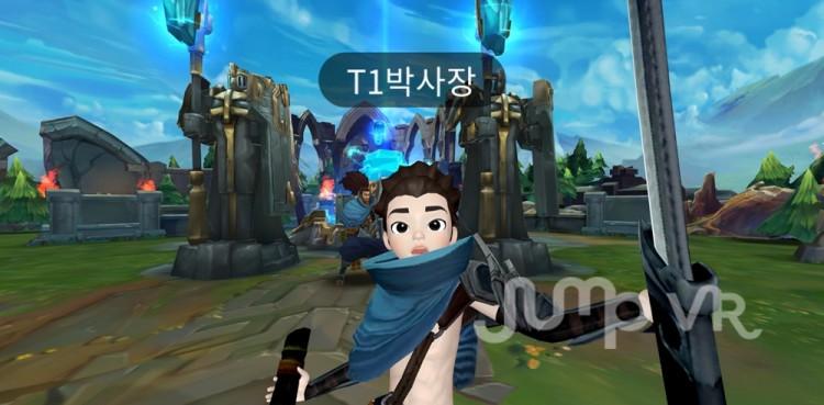 소셜룸 '소환사의 협곡'에서 게임 캐릭터로 분장한 참여자 [사진=SK텔레콤]