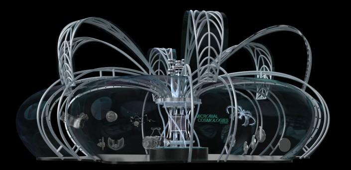 현대차그룹-RISD 미래 모빌리티 디자인 공동연구 '그래픽 디자인 연구팀'이 제안한 '인간과 자연이 공존하는 미래 모빌리티 허브' 디자인 프로젝트.