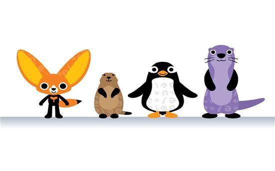 국립생태원 캐릭터 '생태친구들' 왼쪽부터 귀요미, 프레리, 펭이, 강달이(제공:국립생태원)