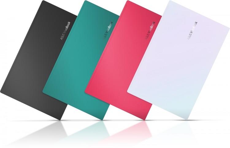 최신 AMD 라이젠 CPU을 탑재한 에이수스 '비보북S' 신모델 색상 4가지 [사진=에이수스코리아]