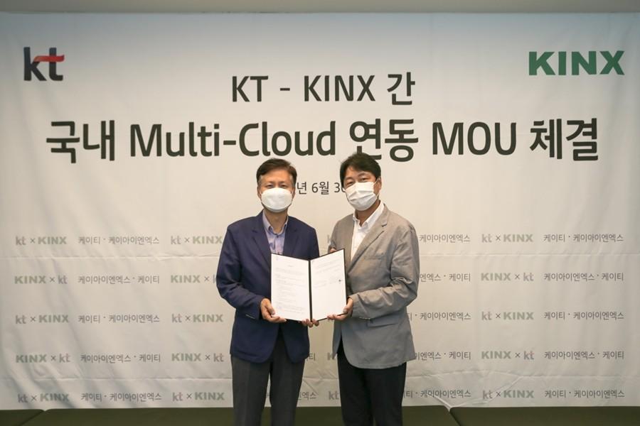 KT와 KNIX의 멀티 클라우드 연동 MOU 체결식