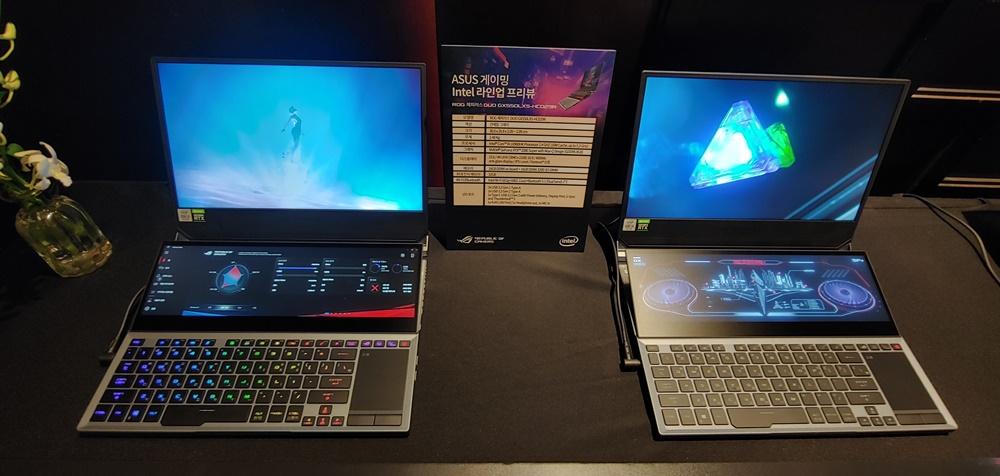에이수스의 '제피러스 듀오'는 젠북 프로 듀오의 게이밍 노트북 버전이다.