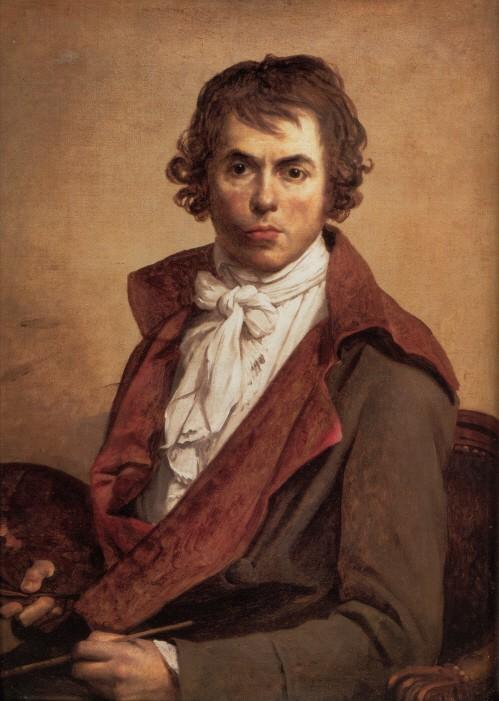 <사진: 자크 루이 다비드, 「자크 루이 다비드의 자화상」, 1794, 루브르 박물관 소장>