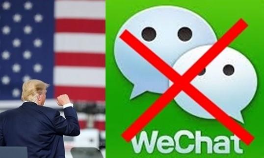트럼프 대통령이 위챗도 금지시키는 행정명령에 사인했다 사진 = 뉴스1