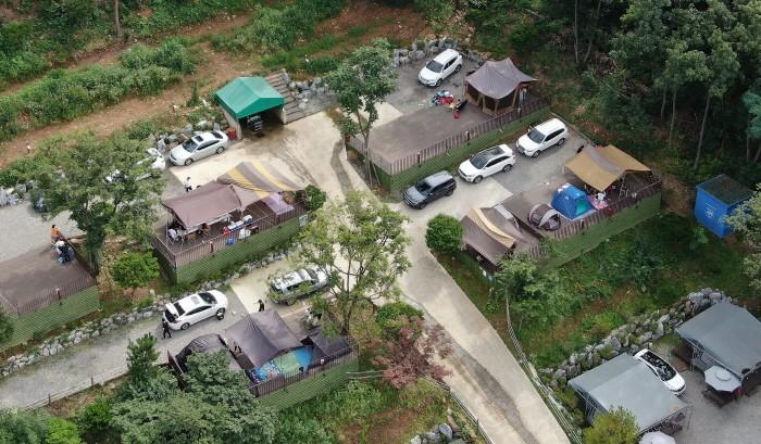 강원도 홍천의 야외 캠핑장(제공:News1)