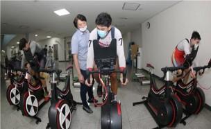 경륜선수들이 자율 훈련하는 안전지원센터에 실내훈련장비 설치