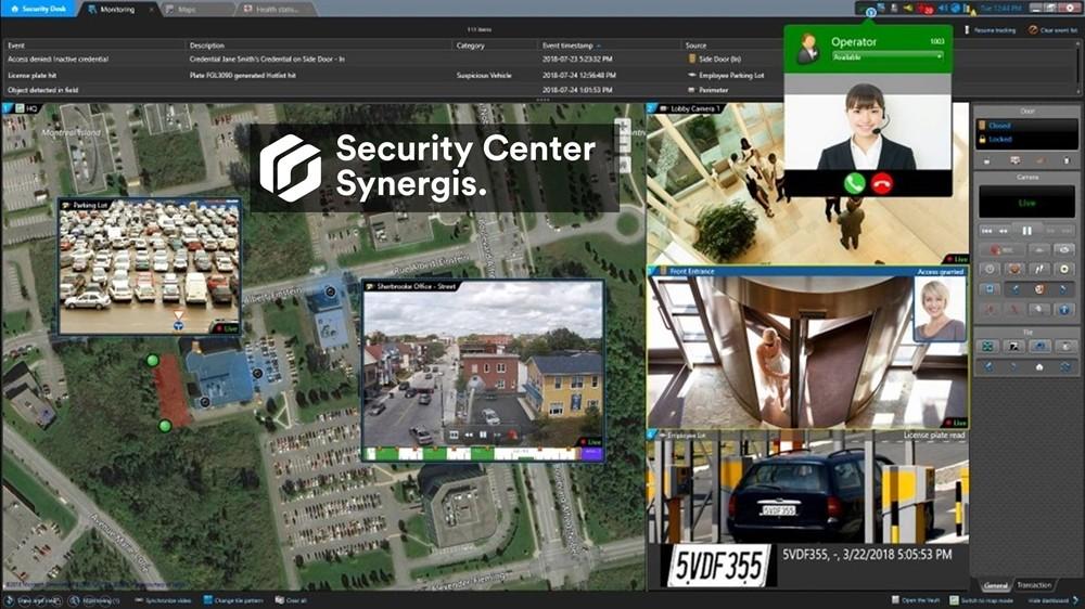 제네텍의 능동형 액세스 제어 시스템 시큐리티 센터 시너지스 화면, 자료제공=제네텍