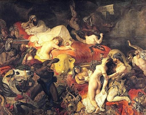 외젠 들라쿠르아, 「사르다나팔루스의 죽음」, 1767, 루브르 미술관