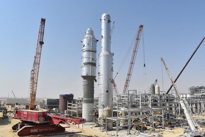 대림산업이 설치 완료한 사우디 마덴 암모니아 Ⅲ 공장의 이산화탄소 제거 시설 사진 = 대림산업
