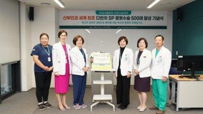 이대서울병원 산부인과, 다빈치 SP 로봇수술 500례 돌파