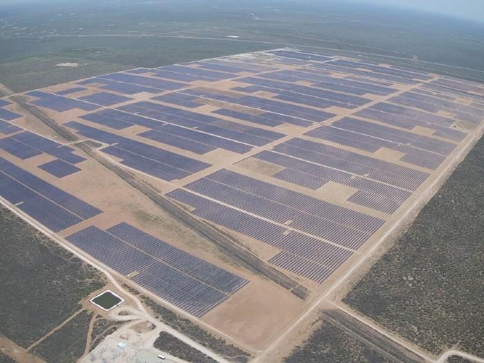 지난 8월 미국 텍사스주에서 완공된 108MW급 발전소 전경(제공:한화에너지)