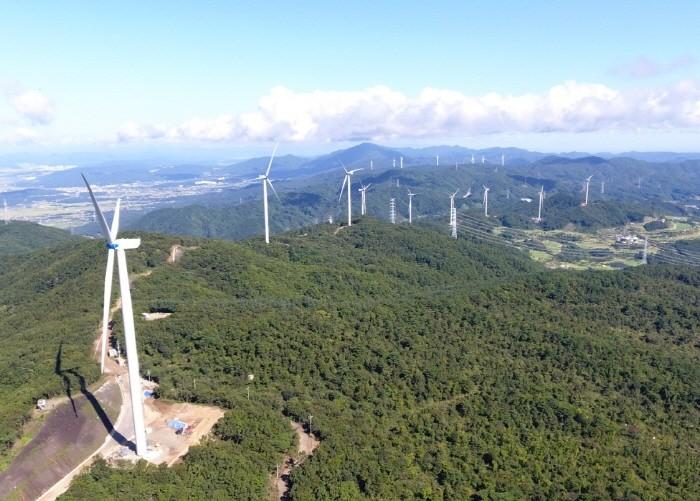 코오롱글로벌의 경주 풍력발전 사업전경(제공:코오롱글로벌)