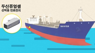 두산퓨얼셀·나빅8, '친환경 선박용 연료전지' 개발 나서