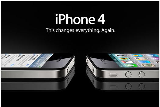 디자인 혁신을 일으켰던 아이폰4. 아이폰 12는 아이폰4의 디자인 DNA를 물려받았다.