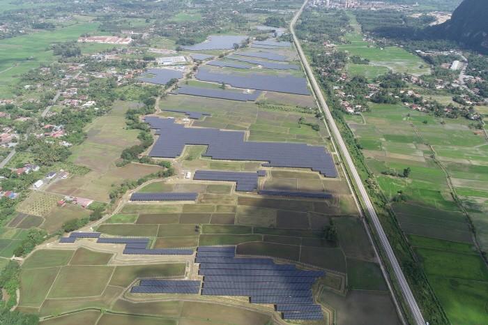 말레이시아 48MW 태양광 발전소 전경(제공:한화에너지)