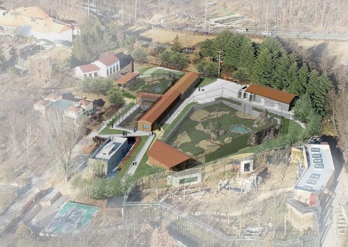 천연기념물 동물 보존관 조감도(제공:문화재청)