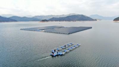 한화큐셀-수자원공사, 주민참여형 세계 최대 수상태양광 추진