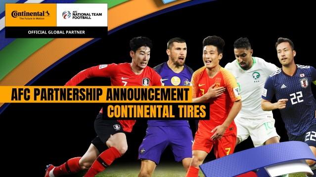 콘티넨탈, 아시아축구연맹(AFC) 후원 파트너십 4년 연장