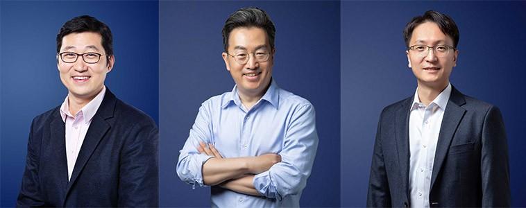 (왼쪽부터) 김범석 대표, 강한승 대표, 박대준 대표.