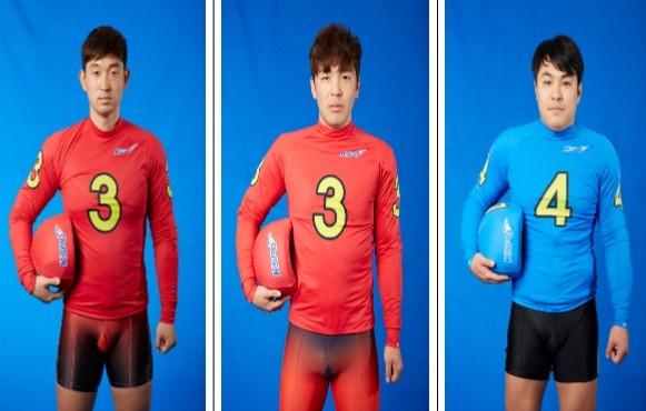 85년생 소띠 경륜 선수 전영규 유태복 김홍건(왼쪽부터)의 활약이 기대된다.