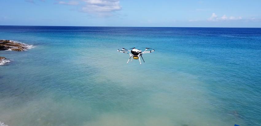 DMI는 버진아일랜드에서 응급의료물 배송 시연을 성공적으로 완수했다. 수소 연료전지 파워팩은 대부분의 배터리 드론에 비해 4배에 달하는 2시간 연속 비행 가능하게 UAV를 구동할 수 있다