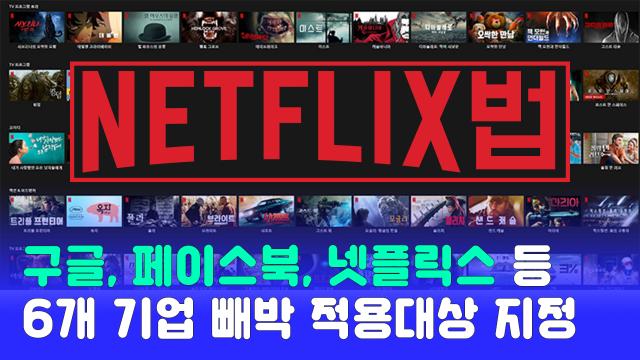 구글·페북·카카오·네이버 등 6개사 넷플릭스법 대상 지정되다