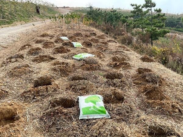 태흥에프엔지, 인천 서구 수도권매립지 숲 조성 위한 상토 지원