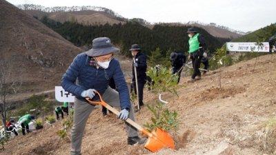 산림청, 2021년 탄소중립 선언 첫 나무심기 진행