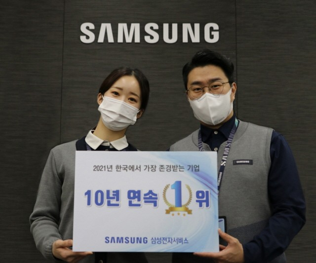 한국에서 가장 존경받는 기업 1위 선정 기념 촬영
